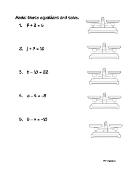 Modeling One Step Equations Addition Subtraction