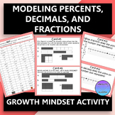 Modeling Percents, Decimals, and Fractions Growth Mindset