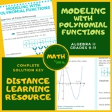 Modeling Polynomial Functions Algebra 2 Lesson + Worksheet