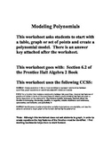 Modeling Polynomials - Section 6.2 - Prentice Hall Algebra 2