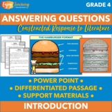 Answering Questions PowerPoint - Fourth Grade Constructed Response