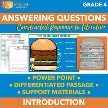 Answering Questions Power Point - RL.4.1 Constructed Response