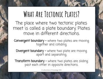 Modeling Tectonic Plates Science Experiment