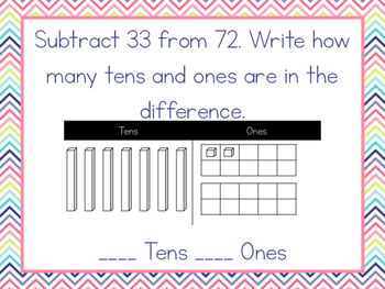 Modeling Two Digit Addition & Subtraction for 2nd Grade - GO Math