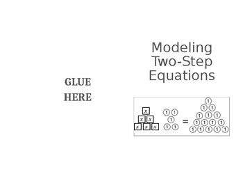 Modeling Two-Step Equations Foldable