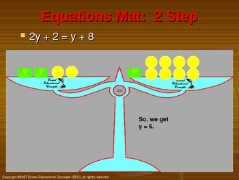 Modeling Two Step Equations PowerPoint