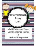 Informational Writing: 3 paragraph essay. Grades 4, 5, 6. NO PREP