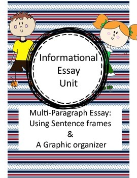 Informational Writing: 3 paragraph essay. Grades 4, 5, 6. NO PREP