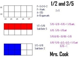 Modeling fractions with equivalent fractions, scale factor, and measurement