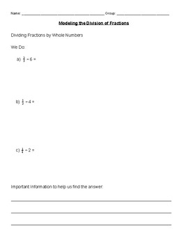 Modeling the Division of Fractions