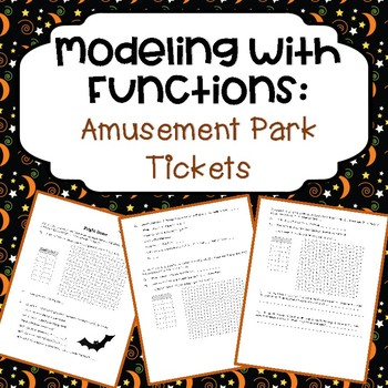 Modeling with Functions: Amusement Park Tickets