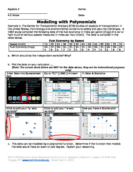 Modeling with Polynomial Functions