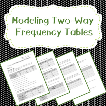 Modeling with Two-Way Frequency Tables