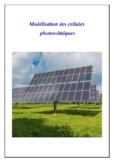 Modélisation des cellules photovoltaïques