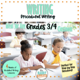 Modelled Writing | Procedural Writing | Gr 3/4 | Ontario C