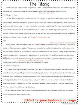 Modelled Writing Unit: Informational Report