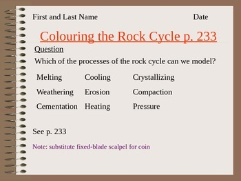 Modelling the Rock Cycle with Crayons Activity
