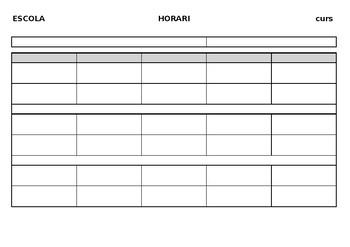 Modelo horario escolar