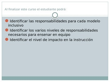 Modelos de Inclusion (power point presentation in Spanish)