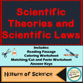 Models, Theories and Laws Matching Game or Worksheet