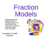 Models and Number Lines of Improper and Mixed Fractions