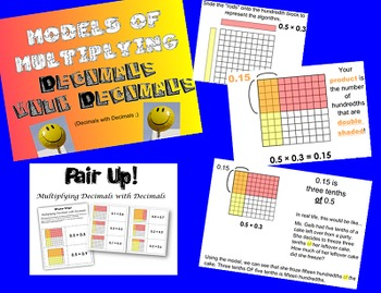 Models of Multiplying Decimals by Decimals Smartboard and Game