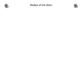 Models of the Atom - Expert Groups
