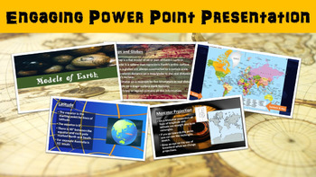 Earth Models No Prep Lesson with Power Point, Worksheet and Coordinates Activity