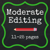 Moderate Editing - 11-25 pages