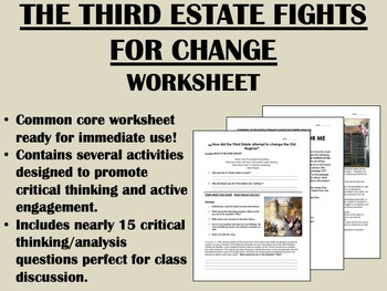 Moderate Phase of the French Revolution worksheet - Global History Common Core