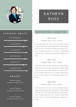 Modern 3 in 1 photo Word resume
