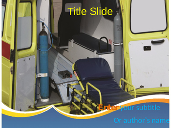 Modern Ambulance Van PPT Template