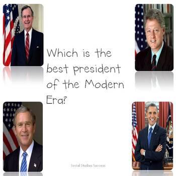 Obama, Clinton and Bush Activity and Writing