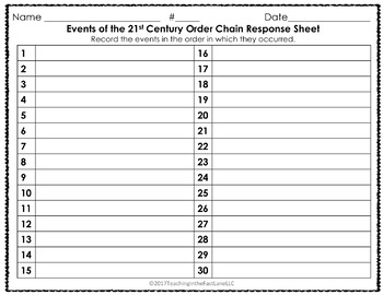 Modern America: Events of the 21st Century Timeline Order Chain {U.S. History}