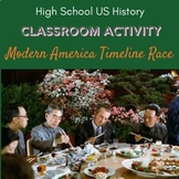 Modern America Timeline Race for High School US History Classes