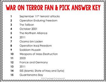 Modern America: War on Terror Fan & Pick {U.S. History}