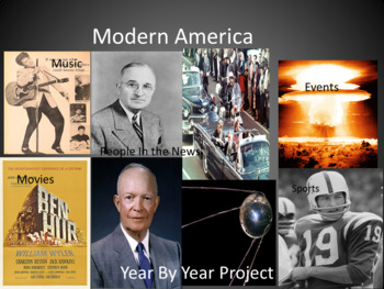 Modern America -  Year By Year Project