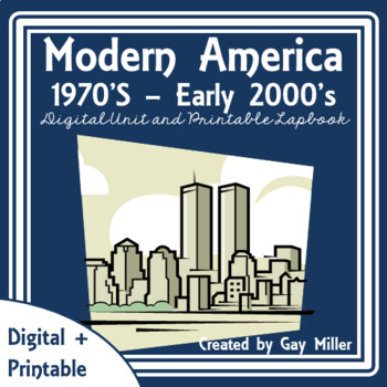 Modern America Digital + Printable  | Distance Learning