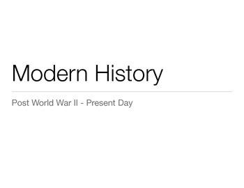 Modern American History Presentation - 1950, 1960, 1970, 1980, 1990 & 2000's