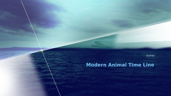 Modern Animal Time Line