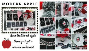 Classroom Decor Modern Apple - Full Collection Bundle