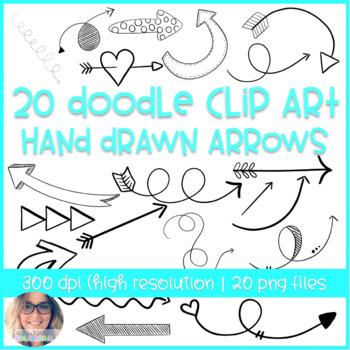 Modern Arrow Doodle Clip Art