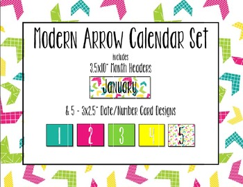 Modern Arrows Calendar Set