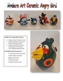 Modern Art Ceramic Angry Bird Project