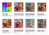 Modern Art Movements Printable Banner or 5x7 Wall Cards