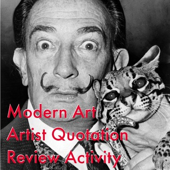 Modern Art Review Activity - Artist Quotations