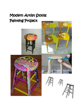 Art History: Modern Artist Stools (Painting Project)