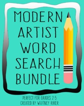Modern Artist Word Search Bundle