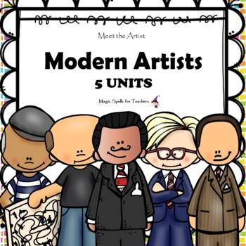 Modern Artists  - Dali - Mondrian - Picasso - Pollock - Warhol