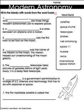 Modern Astronomy Quiz